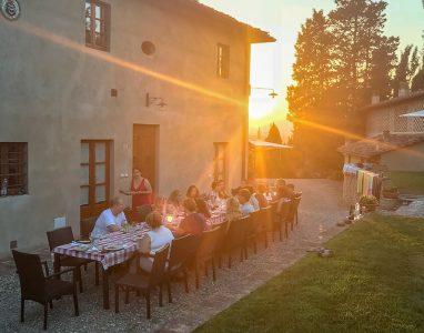 Tuscany villa dinner